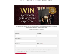 Win a premium wine for a year