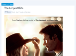 Win a private Gold Class screening of 'The Longest Ride'!