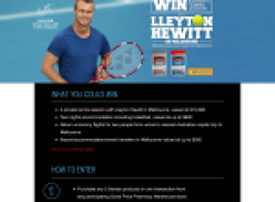 Win a private tennis lesson with Lleyton Hewitt in Melbourne!