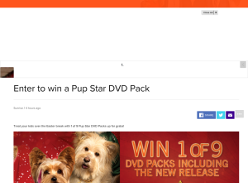 Win a Pup Star DVD Pack