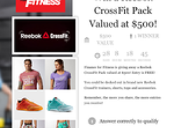 Win a Reebok CrossFit Pack Valued at $500!