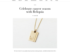 Win a Reliquia Cancer necklace