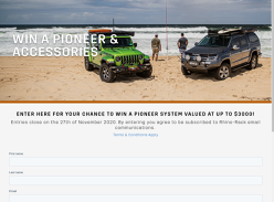 Win a Rhino-Rack Pioneer with Mounting System & Gear
