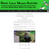 Win a Robot Lawnmower