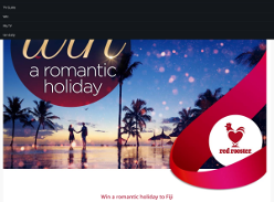 Win a romantic getaway to Fiji