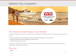 Win a Romantic Hawaiian Escape with your Valentine!