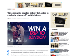 Win a romantic holiday for 2 to London!