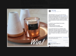 Win a Round Copper Platters, 2 Minikin Lanterns and a Rose Gold scented soy candle from Meraki