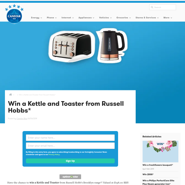 Win a Russell Hobbs Brooklyn Kettle & 4-Slice Toaster Pack Worth $198