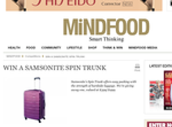 Win a Samsonite Spin Trunk