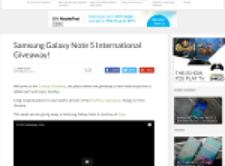 Win a Samsung Galaxy Note 5!