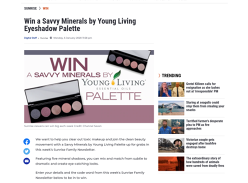 Win a Savvy Minerals by Young Living Eyeshadow Palette!