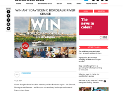 Win a Scenic Bordeaux River Cruise for 2 or 1 of 5 double passes to the Sept Reader Dinner