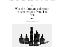 Win a Scented Oil Collection