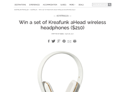 Win a set of Kreafunk aHead Wireless Headphones, valued at $210!