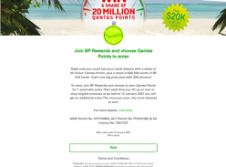 Win a share of 20 Million Qantas Points + $20K worth of BP Gift Cards!