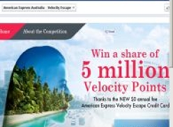 Win a share of 5 million Velocity points!