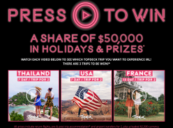 Win a share of $50,000 in holidays & prizes! (18-39 year olds ONLY)