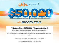 Win a share of $50,000!