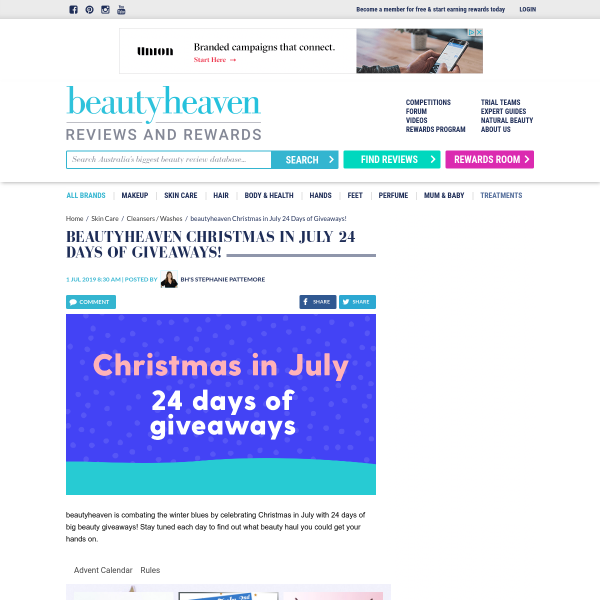 Christmas Giveaways 2019.Beauty Heaven Christmas In July Giveaway Win A Share Of