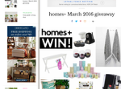 Win a share of prizes for the home!
