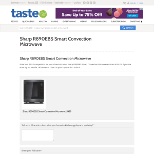 Win a Sharp R890EBS Smart Convection Microwave