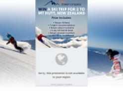 Win a ski trip for 2 to Mt Hutt, New Zealand!
