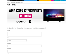 Win a Sony 65 4K TV!