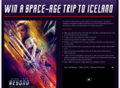 Win a space-age trip to Iceland!