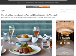 Win a Sparkling Long Lunch for You and Thirty Friends in the Yarra Valley