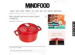Win a Staub Cast Iron Cocotte valued at $569.95!