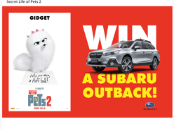 Win a Subaru Outback 2.5i Premium Worth $42,490