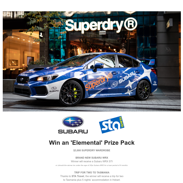 Win a Subaru WRX STI & more!
