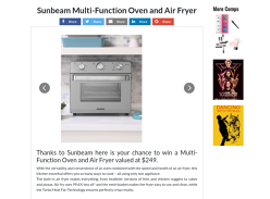 Win a Sunbeam Multi Function Oven
