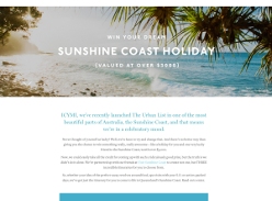 Win a Sunshine Coast Escape for 2