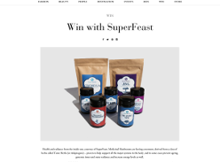 Win a SuperFeast Tonic Herbs and Medicinal Mushrooms pack
