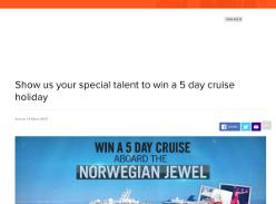 Win a Taste of Tasmania 5-day cruise