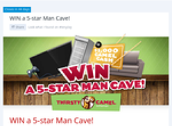 Win a 'Thirsty Camel' 5-star Man Cave!