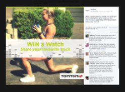 Win a #TomTomSpark Cardio+Music GPS Fitness Watch