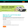 Win a Toyota Corolla or $20,000 Cash
