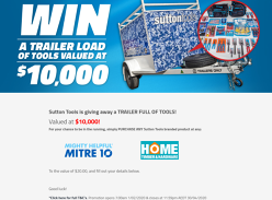 Win a trailer full of tools worth $10,000!
