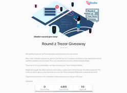 Win a Trezor Crypto Wallet
