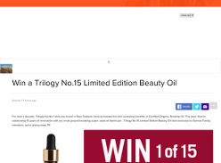 Win a Trilogy No.15 Limited Edition Beauty Oil