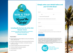 Win a trip for 2 around the world!