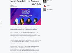 Win a trip for 2 to 2020 iHeartRadio Music Awards!