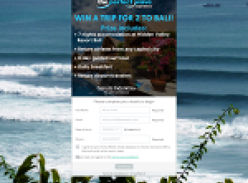 Win a trip for 2 to Bali!