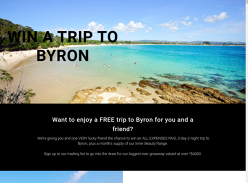 Win a trip for 2 to Byron Bay!