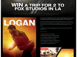 Win a trip for 2 to FOX Studios in LA!