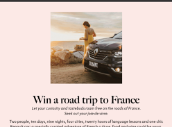 Win a Trip for 2 to France