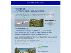Win a trip for 2 to France!